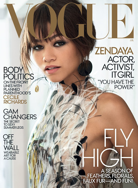 FLYING HIGH: Zendaya Makes Her Debut on US Vogue's July 2017 Issue