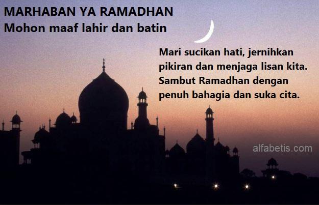 Kartu Ucapan Menyambut Bulan Ramadhan