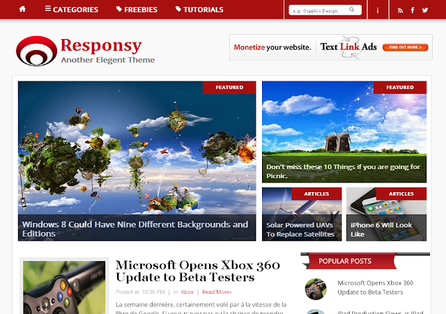 Responsy Responsive Blogger Template