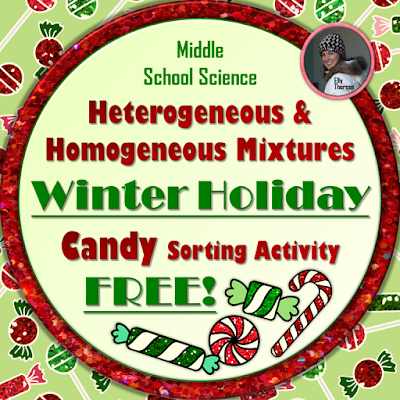 Winter Holiday Candy Sorting Mixtures Activity FREEBIE