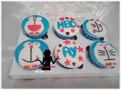Cupcake Doraemon imut dan lucu buat Dedek Ay