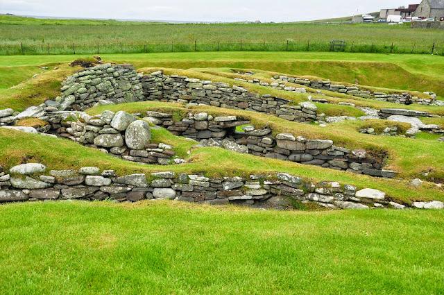 wielokulturowe stanowisko archeologiczne w Jarlshof, Szetlandy - farma średniowieczna