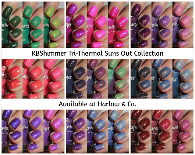 KBShimmer Suns Out Tri-Thermal Collection Harlow & Co swatch by Streets Ahead Style