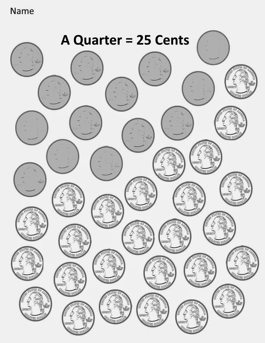 Kindergarten and Mooneyisms: Coins, Part Four: A Quarter = 23 Cents