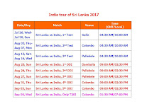India Vs. Sri Lanka 2017 Schedule & Time Table,India tour of Sri Lanka 2017,india sri lanka 2017 series schedule,fixture,full schedule & time table,india t20 cricket,sri lanka vs india 2017 schedule,sri lanka vs india match detail,odi,t20,test,india time IST,local time,venue,2017 cricket calendar,SRI Vs. IND full series 2017,india cricket schedule,July to Spetember,2018 cricket schedule,indian team squad,player