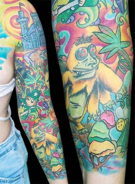 Tatto Crazy Art Ideas: 50 Trippy Psychedelic Tattoos
