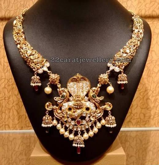 Nakshi Choker with Naga Pendant
