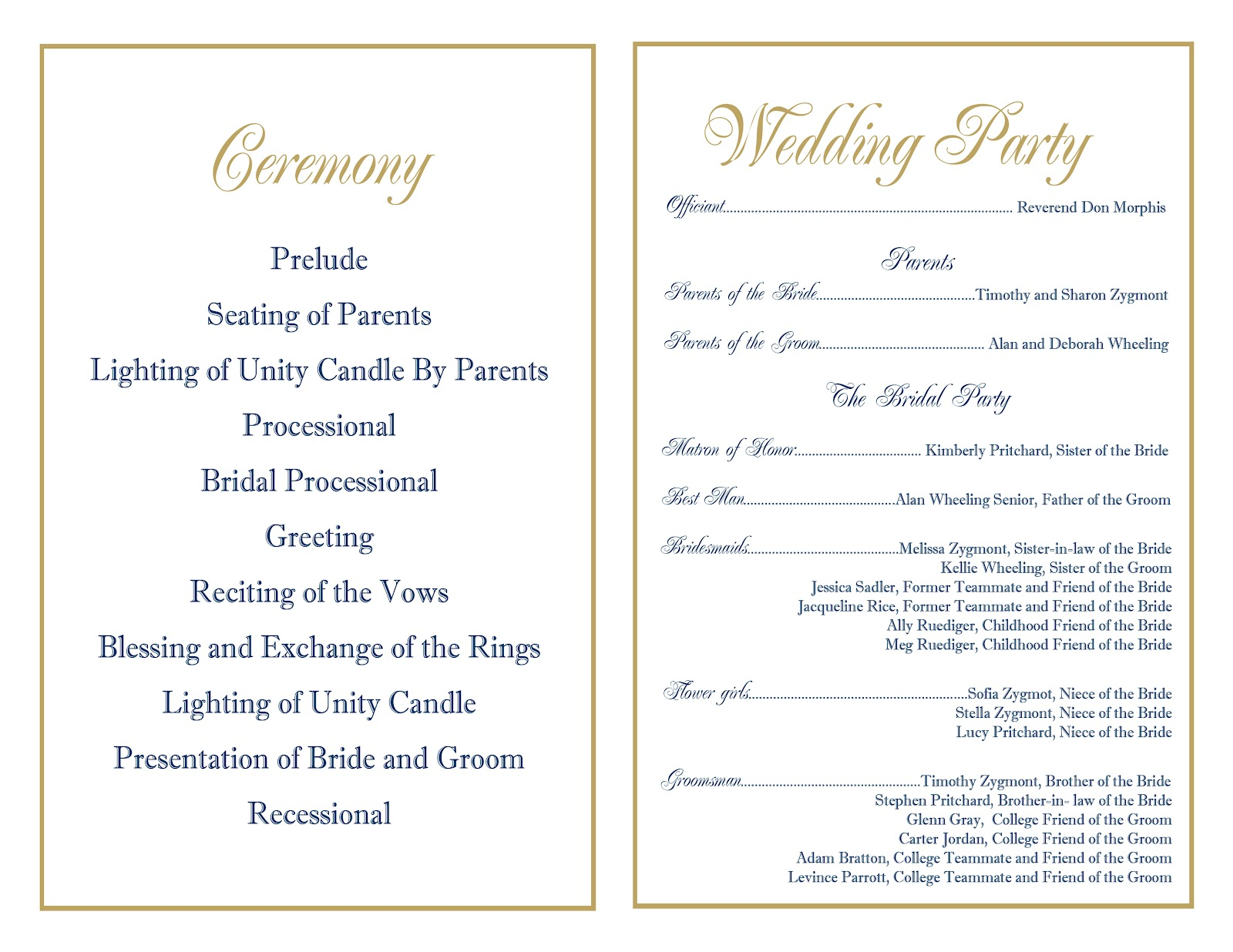 Wedding Or Rehearsal Dinner Invitation Design