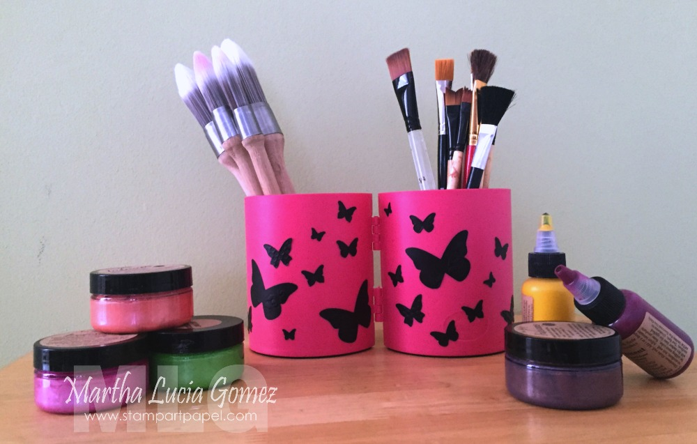Deflecto Crafts The Possibilities Are Endless Pink Pencil Cup - Vinyl cup brush