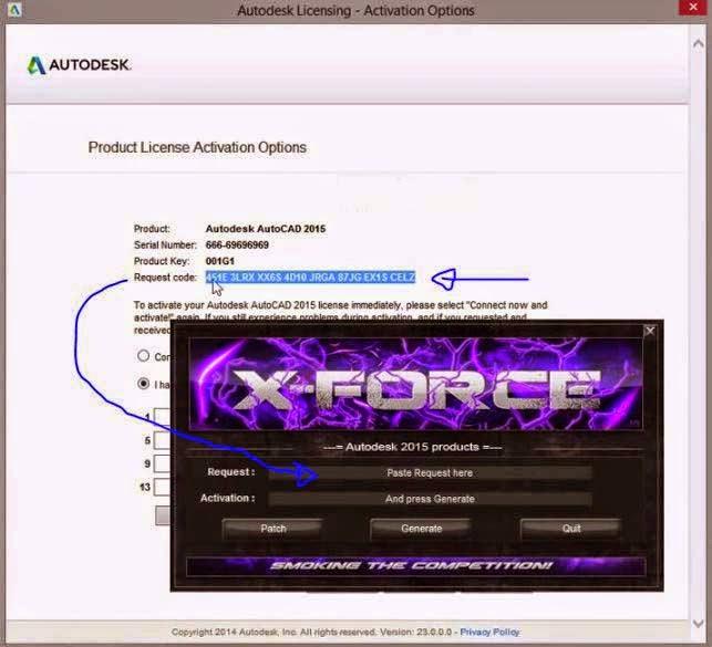 Autodesk 2015 Products 32bit-64bit Keygen + Products Key