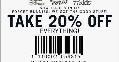 American Eagle Printable Coupons March 2015