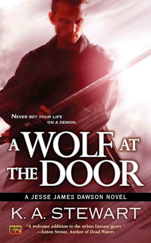 Review: A Wolf at the Door by K. A. Stewart
