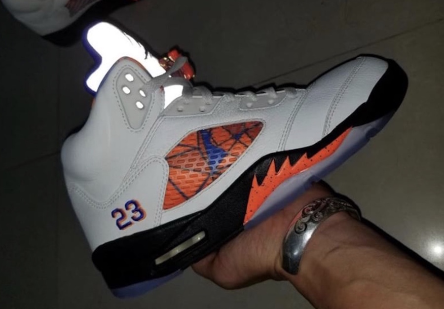 f8784b22726a The Air Jordan 5 Orange Peel is an upcoming release that resembles the  colors of the Cavs Knicks releasing this Fall 2018. Dressed in a Sail