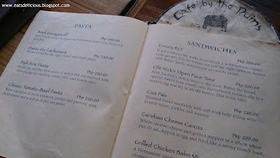 cafe by the ruins chuntug baguio menu pasta sandwiches