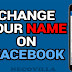 How Change your Name on Facebook
