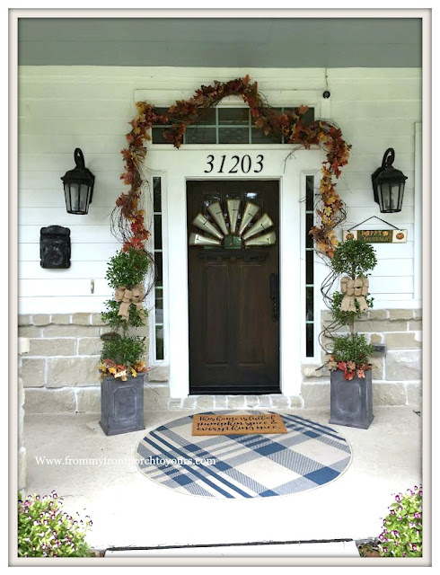 Fall-Entryway-Topiary-Porch-From My Front Porch To Yours