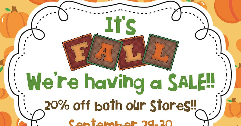 Teacher Bits And Bobs: It's FALL!! We're Having A SALE, Y