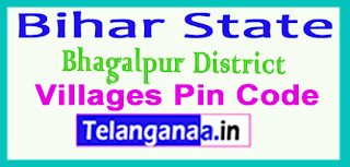 Bhagalpur District Pin Codes in Bihar State