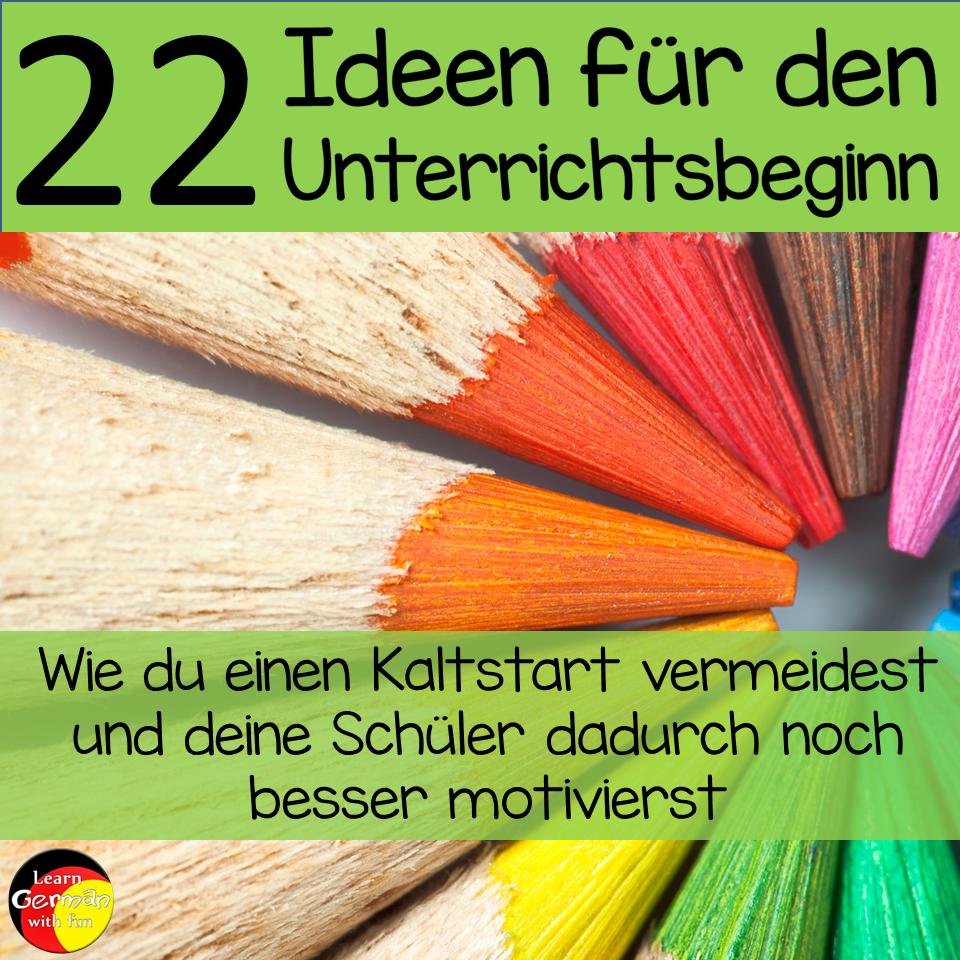 Learn German With Fun 22 Ideen Für Den Unterrichtsbeginn