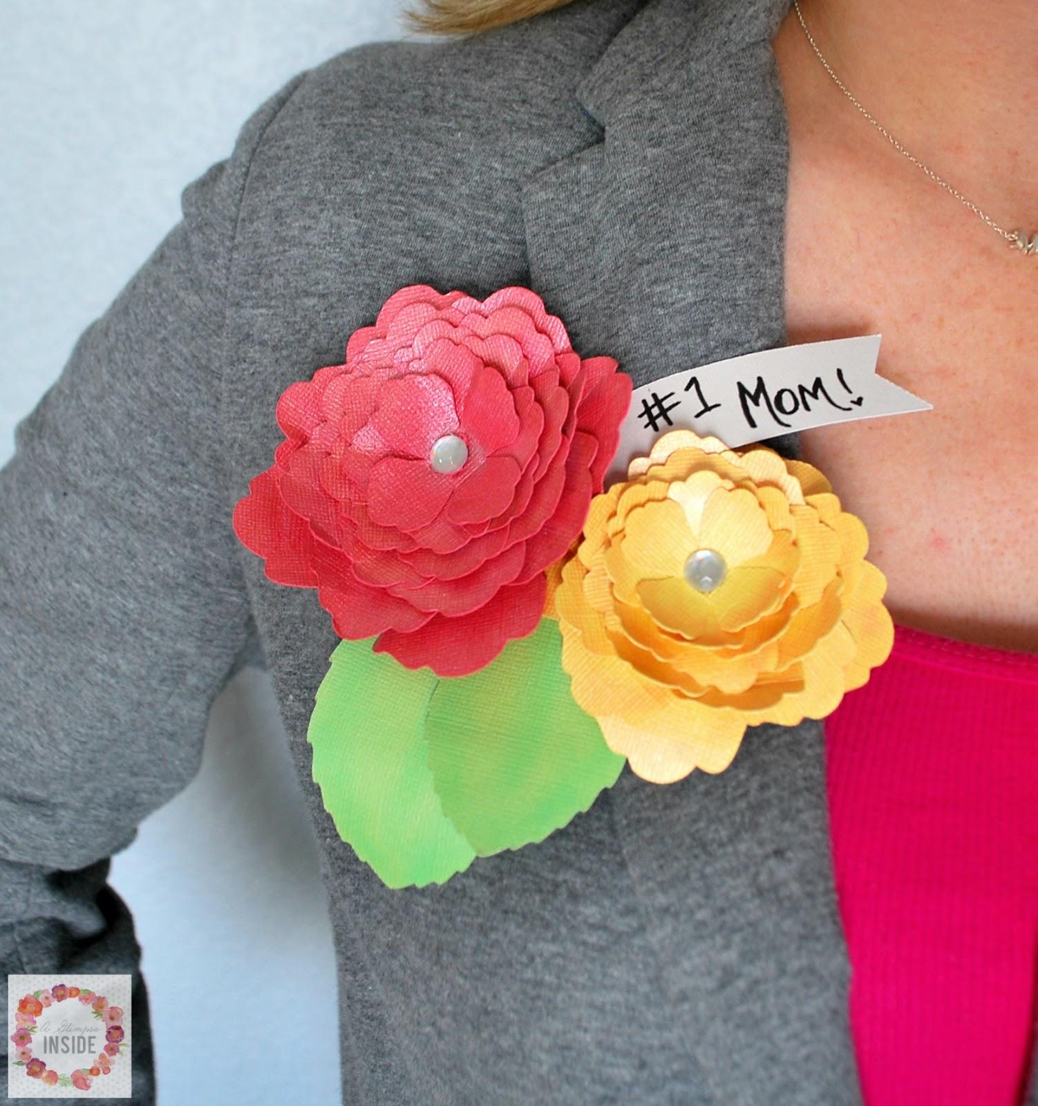 Paper Flower Corsage A Glimpse Inside