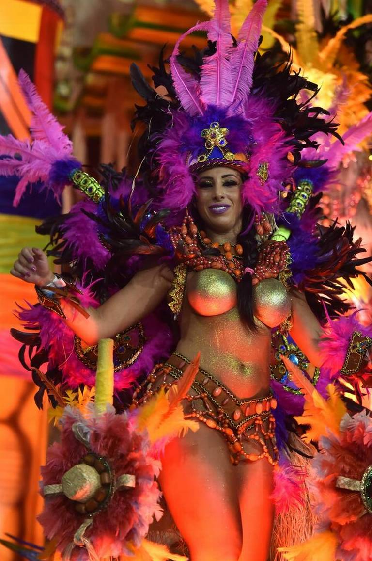 Carnival at the Sambadrome in Sao Paulo, 2016