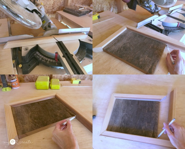 how to cut a mitered frame