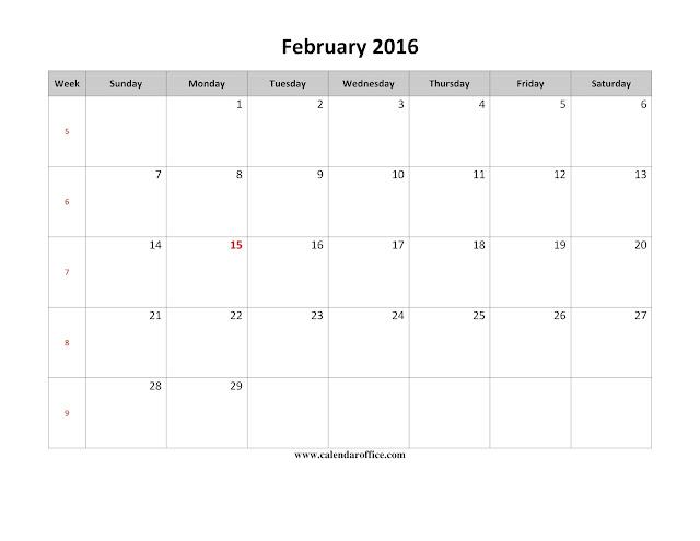 February 2017 Printable Calendar, February 2017 Calendar, February 2017 Calendar Printable, February 2017 Calendar Template, February 2017 Blank Calendar, February Calendar 2017