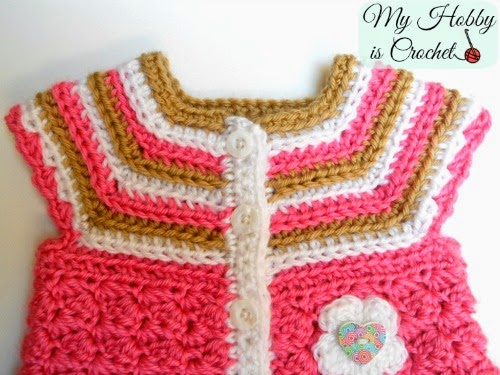 Stripes and Bubble Baby Cardigan - Free Crochet Pattern