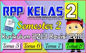 RPP Kelas 2 SD Semester 2 Kurikulum 2013 / K13 Revisi 2018 Semua Tema