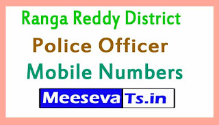 Ranga Reddy District Police Officer Mobile Numbers List