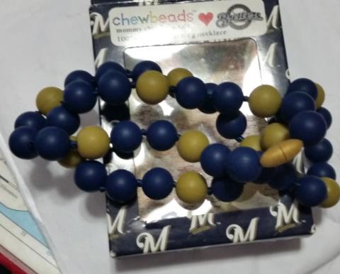 MLB Brewers necklace
