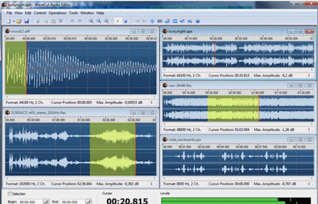 تحميل برنامج قص الاغاني مجانا للكمبيوتر WaveCut Audio Editor