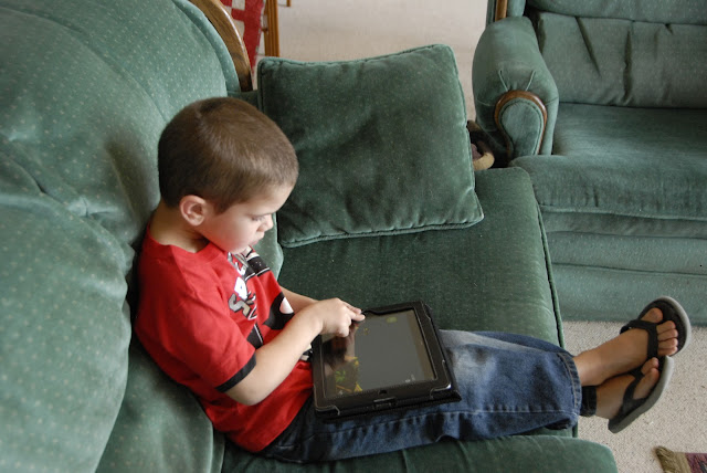 grandson on iPad: LadyD Books
