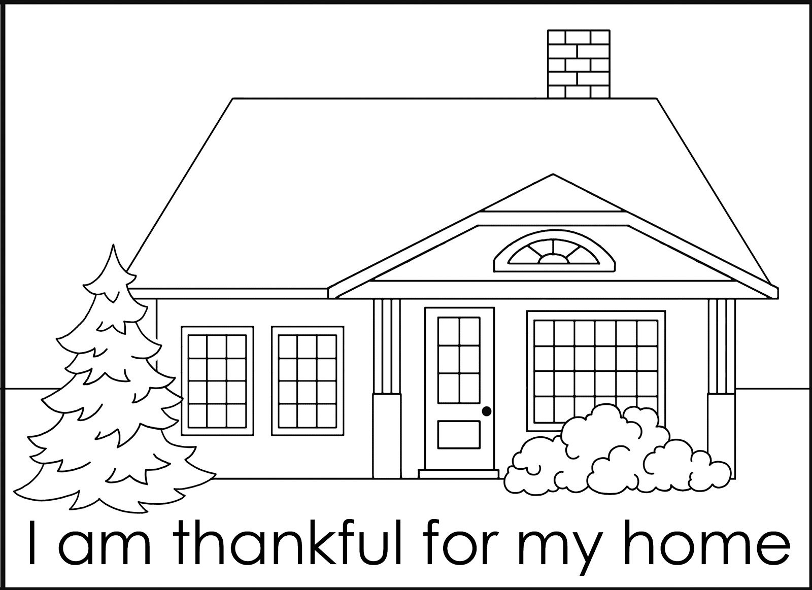 i am thankful for coloring pages - green jello with carrots fhe idea for thanksgiving