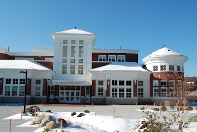 Franklin HIgh School in winter time