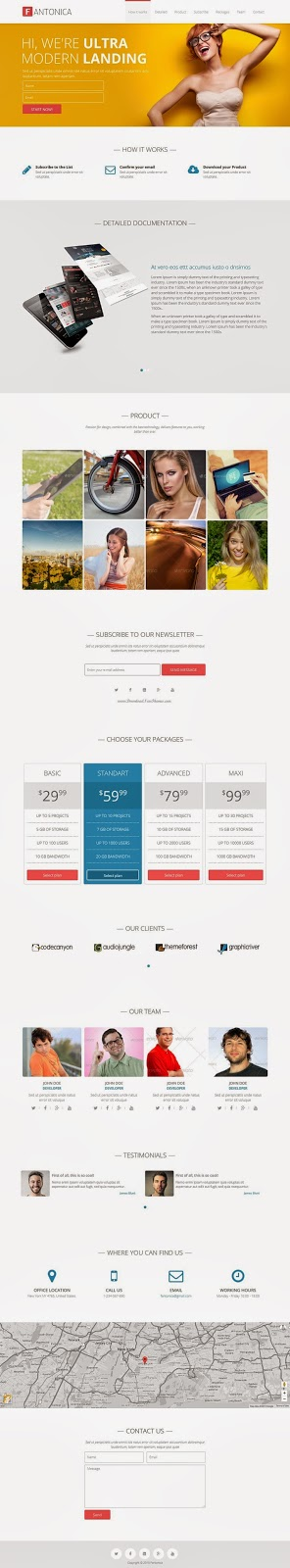 Responsive Bootstrap Landing Page Template