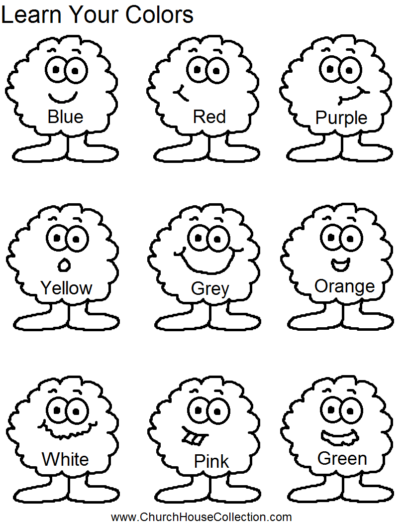 learn your colors for preschool headstart school kids free printable template worksheet for kids to color - Worksheets To Print Out