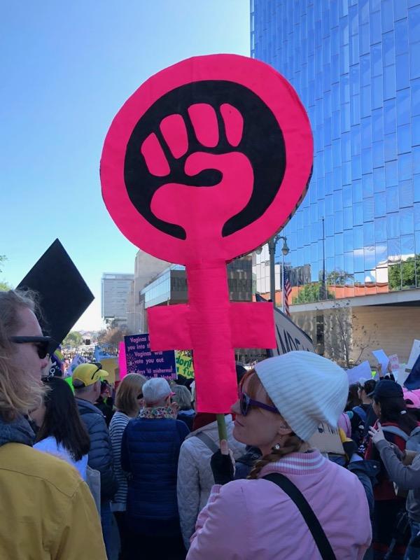 2018 Womens March LA sign