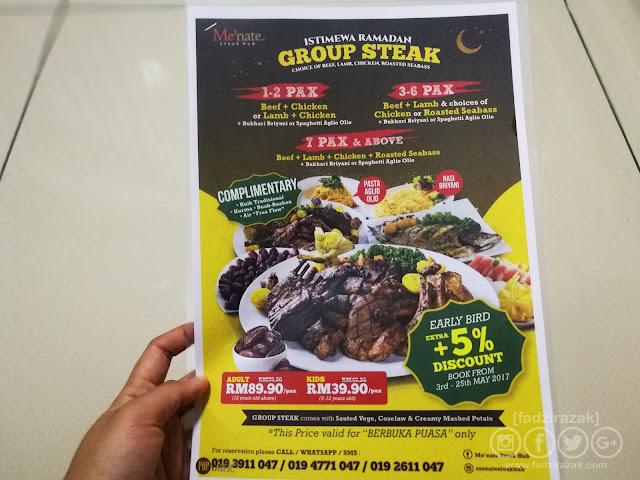 Berbuka Puasa Di Menate Steak Hub