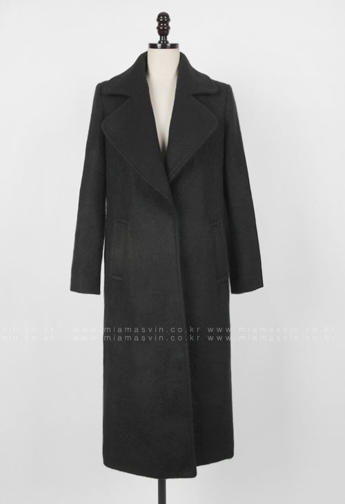 Wide Lapel Hidden Snap Button Coat
