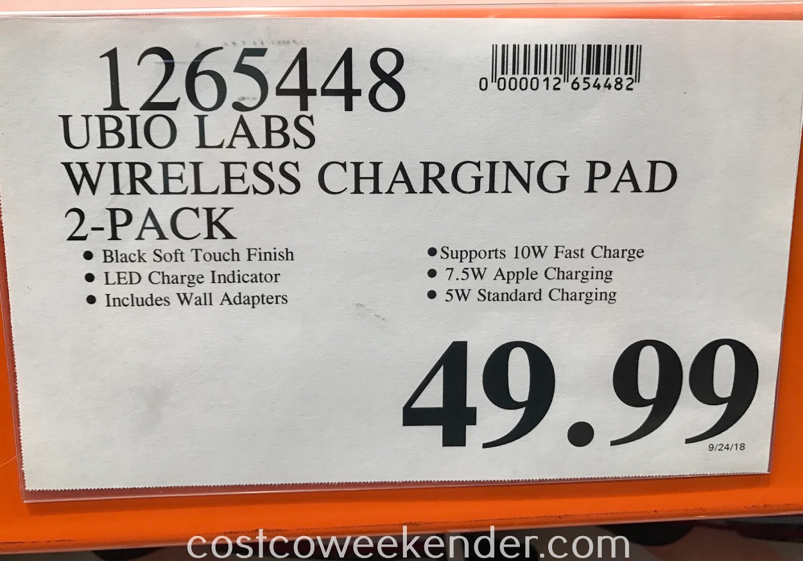 Deal for a 2 pack of Ubio Labs Wireless Charging Pad s at Costco