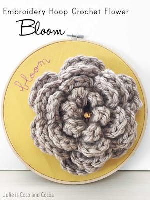 crochet flower accessory