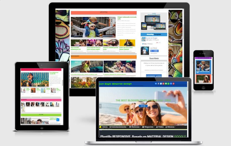Plantilla Gratis Material Design Blogger