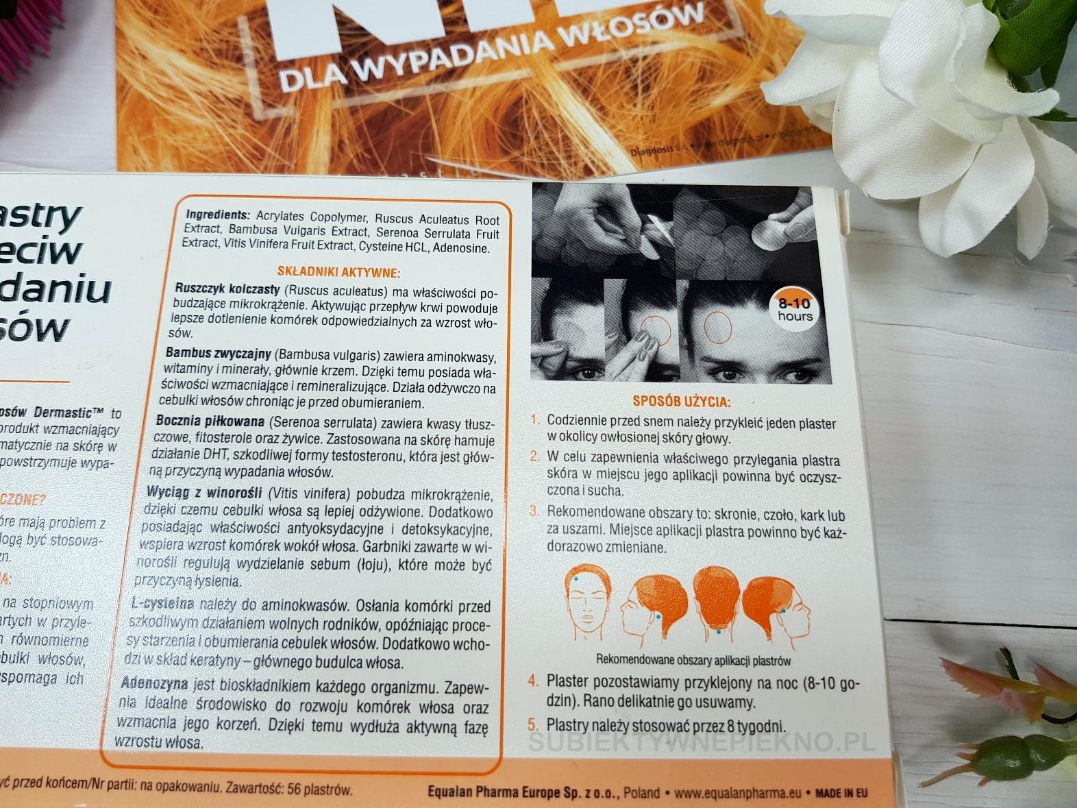 Dermastic plastry przeciw wypadaniu włosów opinie, działanie, skład i jak używać