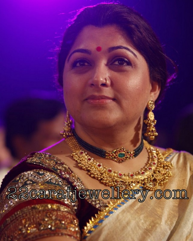 Kushboo S Gorgeous Antique Necklace Jewellery Designs