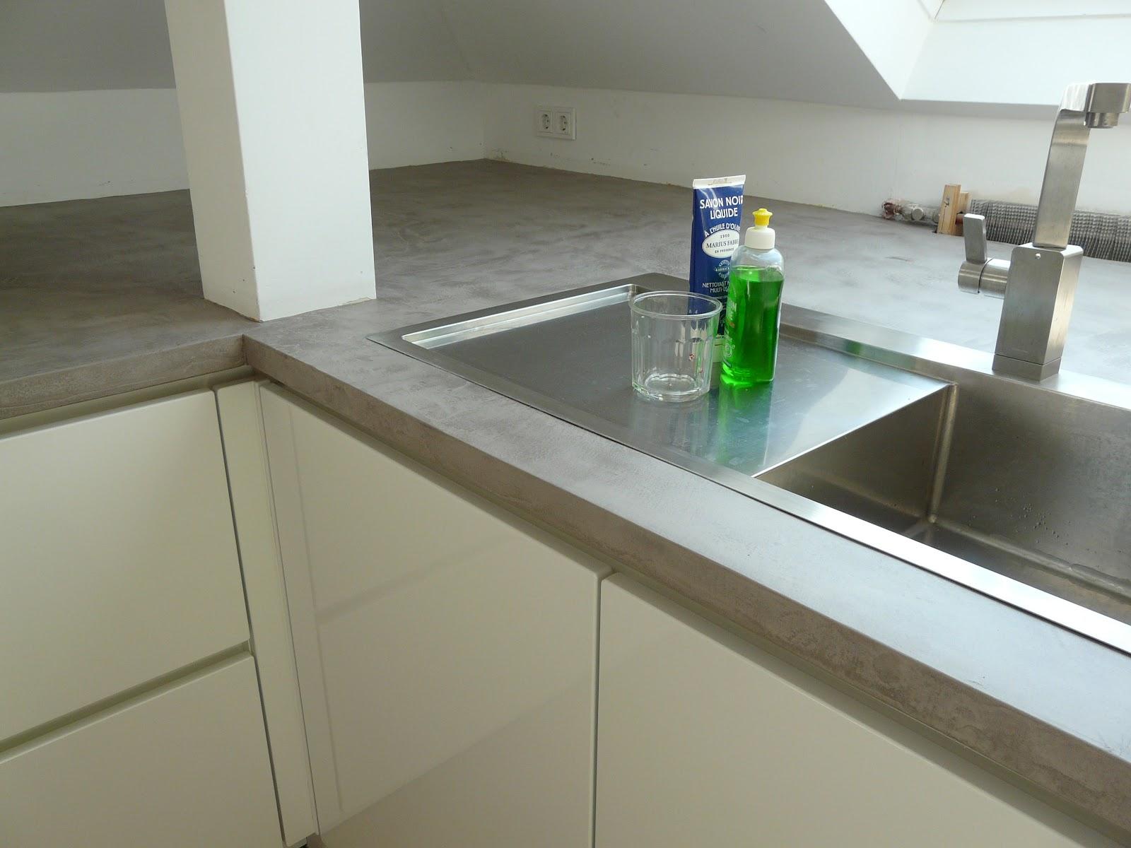 betonoptik küchenarbeitsplatte