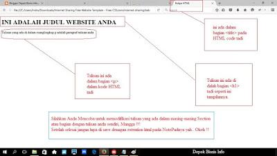 HTML, Info Blog, Apakah HTML, Pentingkah HTML, Belajar HTML, Depok Bisnis Info, Info Komputer