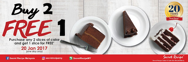 Secret Recipe Cake Buy 2 Free 1 Promo
