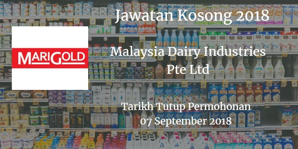 Jawatan Kosong Malaysia Dairy Industries Pte Ltd 07 September 2018