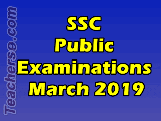 SSC Public Examinations, March 2019 - District Level Observers